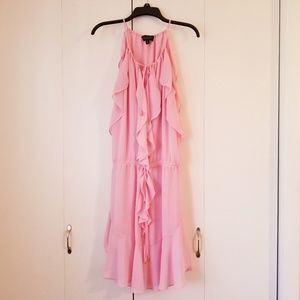 Laundry ruffle dress with ties
